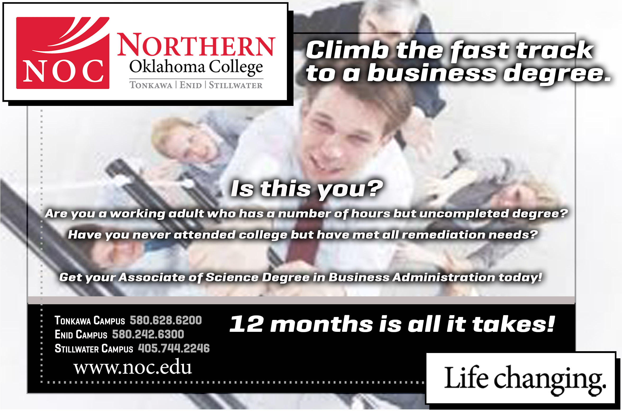 Business Administration fast-track flyer