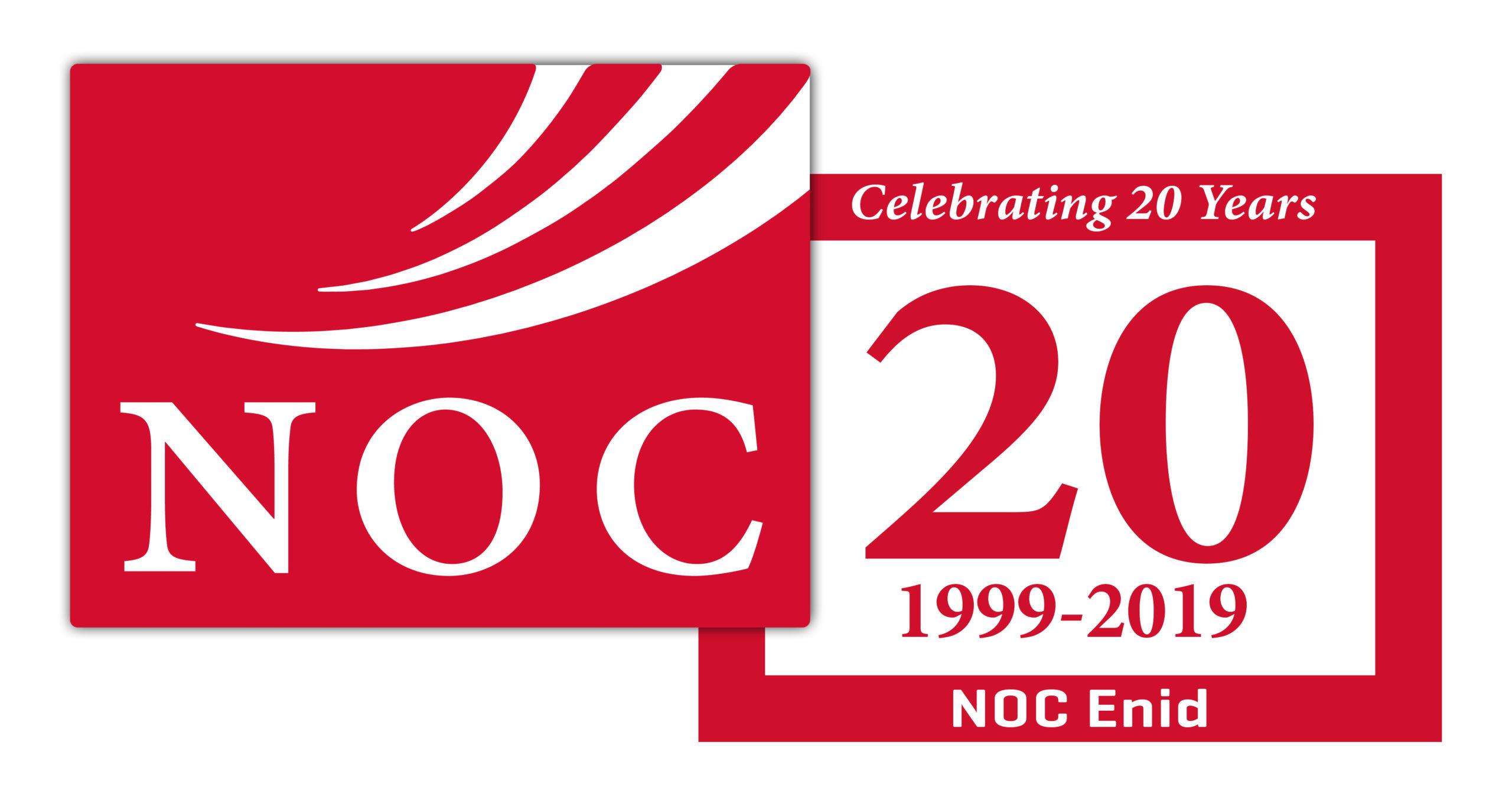 NOC 20 Year Logo